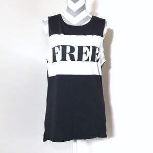 Aritzia Wilfred Free FREE HiLow Graphic Muscle Tee